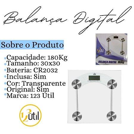BALANCA GIGITAL BANHEIRO 180KG QUADRADA