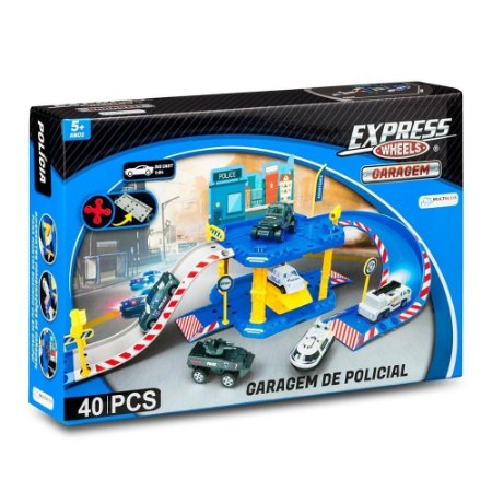 EXPRESS WHEELS GARAGEM POLICIA 40 PCS