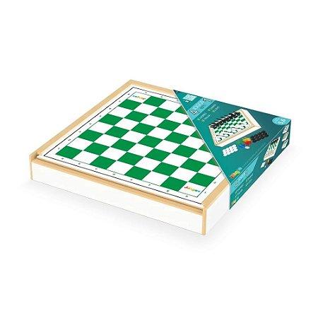 Jogos Classicos 4 em 1 - Xadrez, Ludo, Dama e Trilha - Junges - unica