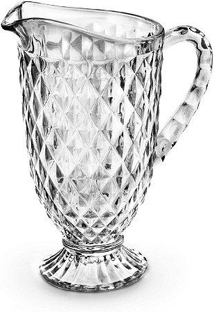 Jarra Diamante Luxo Vidro Transparente 1,2 Litros