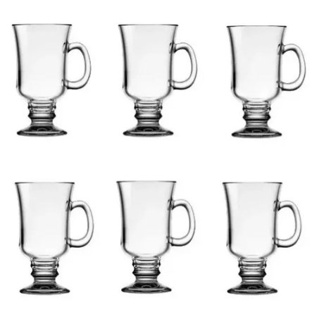 Conjunto Taca Para Cappuccino De Vidro Lyor 114ml C/6 Luxo