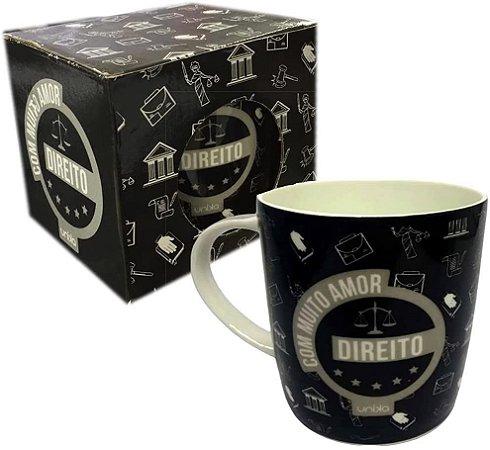 Caneca Ceramica Profissao Direito - 390ml - Unika