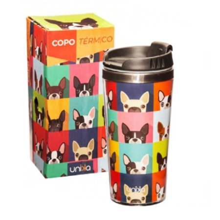 COPO TERMICO INOX CAFE DOG CACHORRO 450M