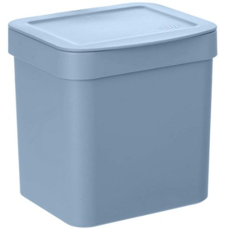Lixeira Pia Cozinha 2,5L Lixeira  De Plastico Azul Glacial