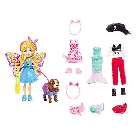 Boneca Polly Pocket Kit Cachorro Fantasias Combinadas Mattel