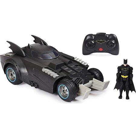 Carro Batmovel Com Controle Remoto e Figura - Sunny 2195
