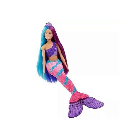 Barbie Dreamtopia Penteados Fantasticos Sereia Gtf39 - Matte
