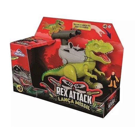 Dinossauro Rex Attack Lanca Missil - Adijomar