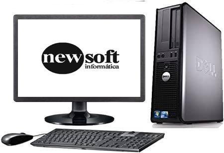 """Dell Core 2 Duo com 4GB de Memória DDR2 e SSD 120GB + Monitor 19"""", teclado e mouse"""