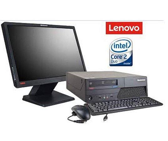 Lenovo Core 2 Duo com 2GB de Memória HD 160GB + Monitor 15, teclado e mouse