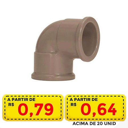 JOELHO SOLD 3/4 25MM POR APENAS R$ 0,79 OU ACIMA DE 20 UNID R$ 0,64