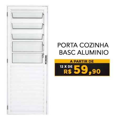PORTA COZINHA BASC ALUMINIO