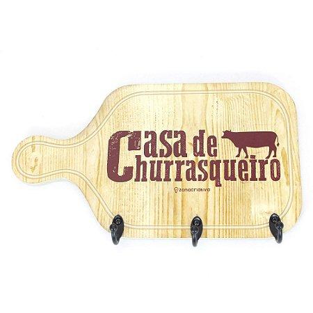 PENDURADOR 3 GANCHOS CASA DE CHURRASQUEIRO 28 X 19 X 1CM