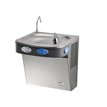 Bebedouro de água gelada, natural e misturada, INOX IBBL  BDF- 300 - 2 Torneiras - 127 Volts