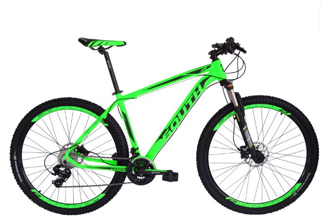 Bicicleta 29 South 24 Marchas Shimano Freio Hid Susp c/ Trava