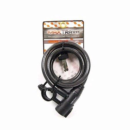 Cadeado Espiral Reforçado MaxTrava 12mm x 1m c/ Suporte