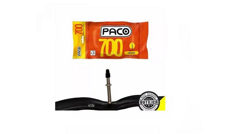 Camara de ar 700x28/35 PACO Bico Fino Presta 48mm