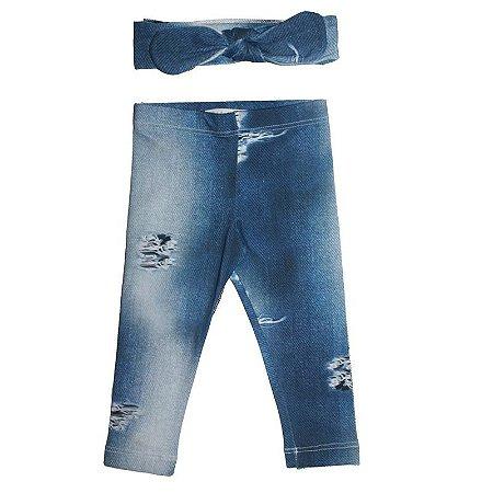 Legging e Faixinha Letiti Gabriela Blue Jeans