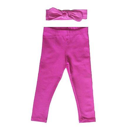 Legging + Faixinha Pink