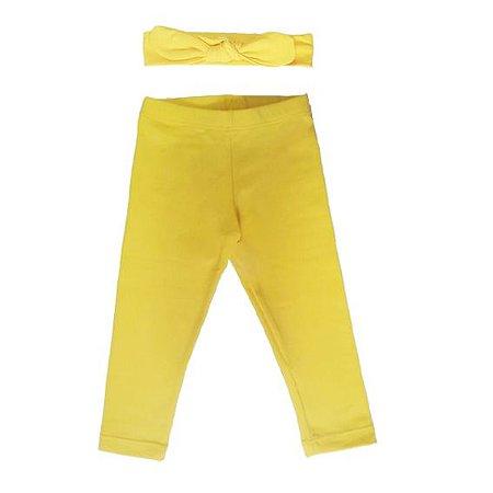 Legging e Faixinha Letiti Amarela