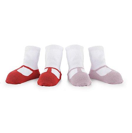Pack Laura Vermelho (2 pares) - 12 até 24 meses