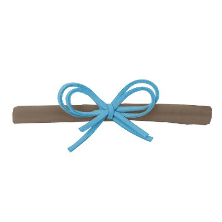 Faixa Laço Camurça Azul e Nude P