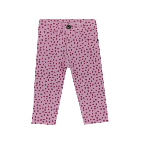 Calça Jeans Rosa com Poá Pink