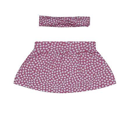 Shorts Saia + Faixa Lola Heart