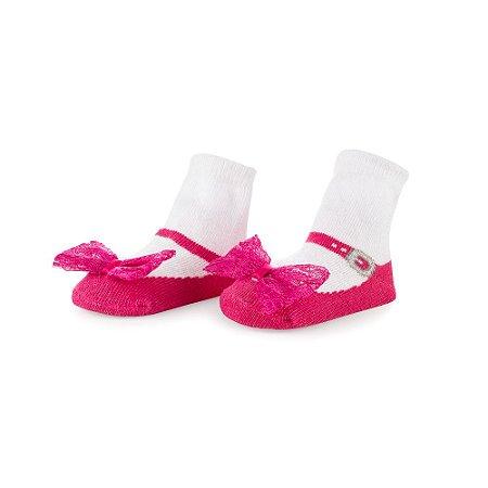 Meia Sapatinho Letiti Lala Pink 0 à 12 meses
