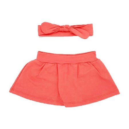 Shorts Saia + Faixinha Laranja Neon