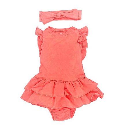 Vestido Amelie Laranja Neon