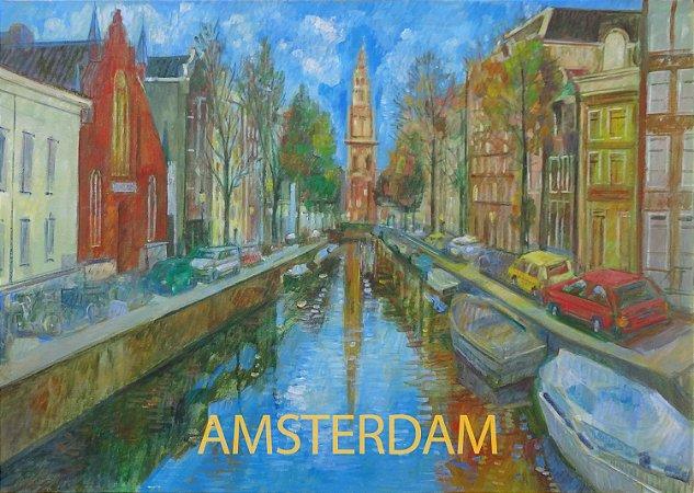 Pôster Cidade de Amsterdã - Holanda