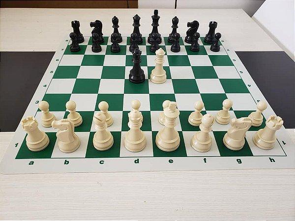 Jogo de Xadrez DGT  Rei 9,5cm - Peso Quádruplo com Tabuleiro silicone