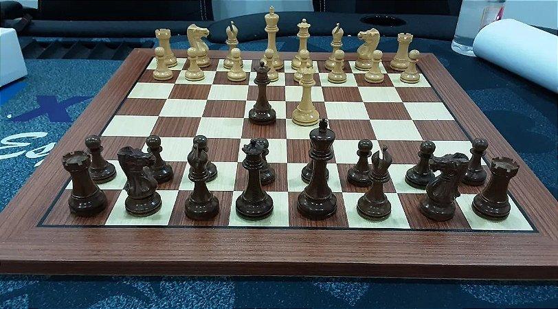 Jogo de Xadrez - Anderssen Series 3,75 polegadas - madeira com tabuleiro