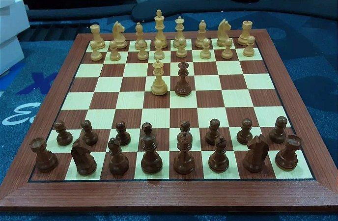 Jogo de Xadrez - German Stauton 3,75 polegadas - madeira com tabuleiro