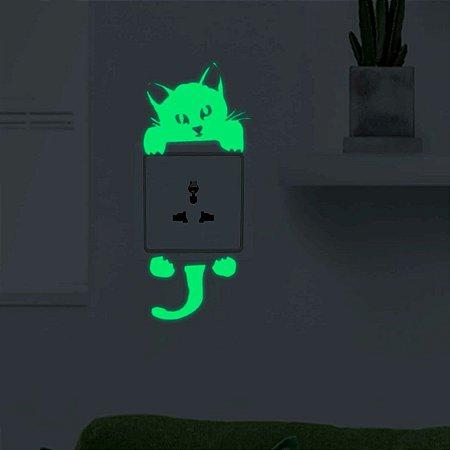 Gato Adesivos De interruptor Parede Luminoso