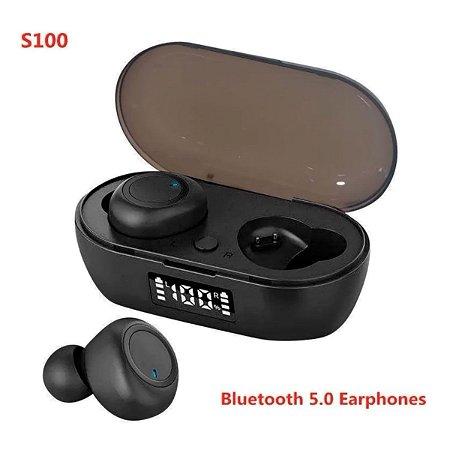 Fone De Ouvido Sem Fio S100 Bluetooth 5.0 Display Digital