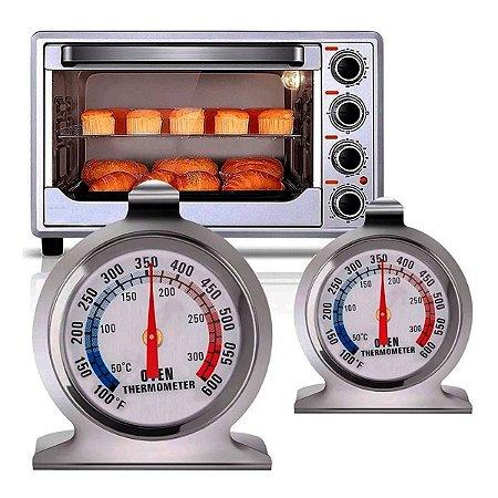 Termômetro Culinário Em Inox Forno, Churrasqueira, Pizza, Assados, Etc.