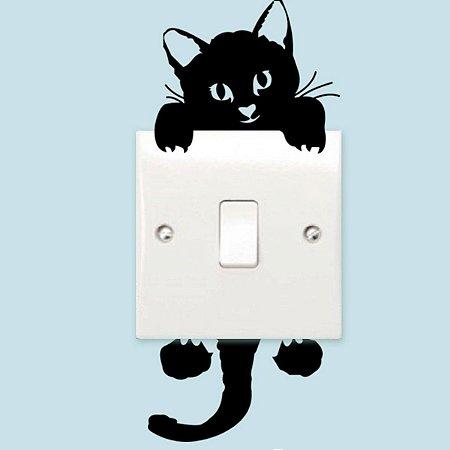 Gato Adesivos De Parede Interruptor De Luz Decoração Decalque Cat Light Switch