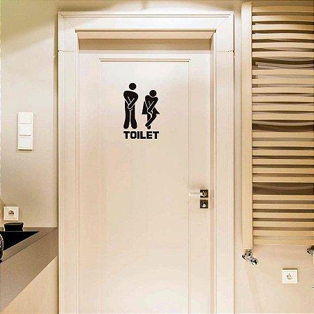 Adesivo de entrada do banheiro