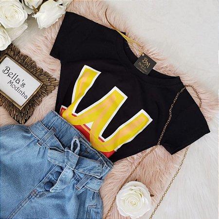 T-shirt West Preta