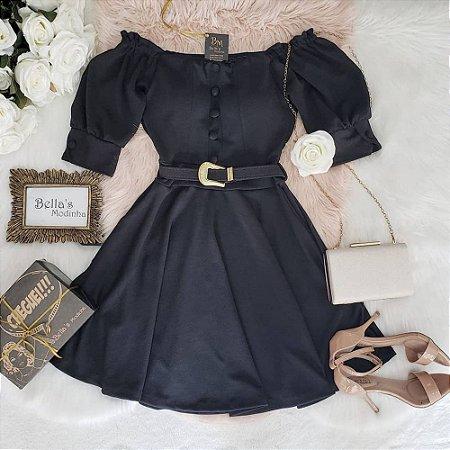 Vestido Boneca Lidi Preto