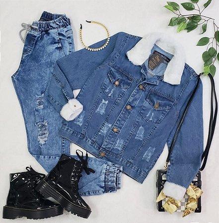 Jaqueta Jeans Com Pelinhos