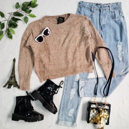 Blusa Tricot Mousse Bege
