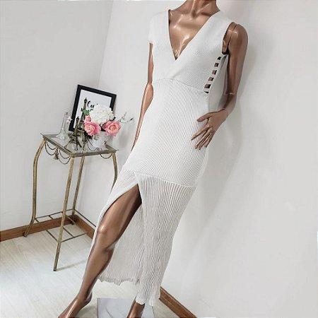 Vestido Tricô Modal Decote