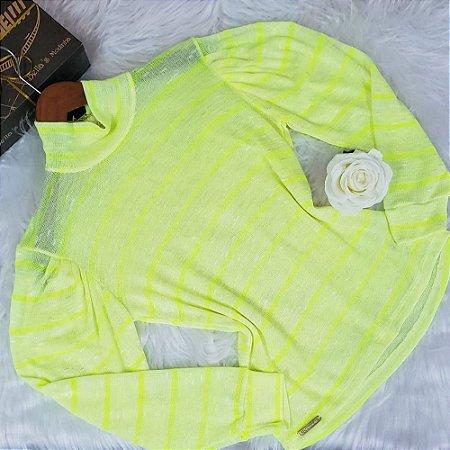 Blusa Tricô Neon Amarela