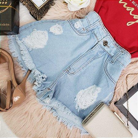 Shorts Jeans Destroyer Cós Alto