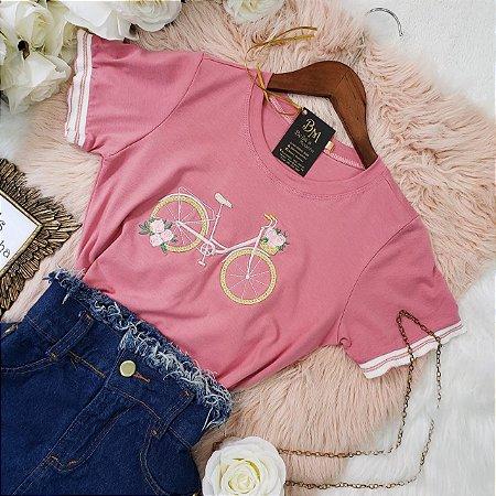 T-shirt Bicicletinha Rose