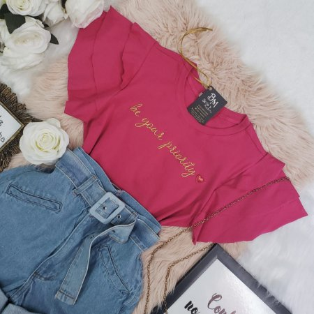 T-shirt Priority Pink