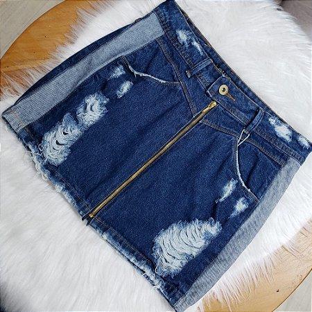Saia Jeans Clarinha Lateral